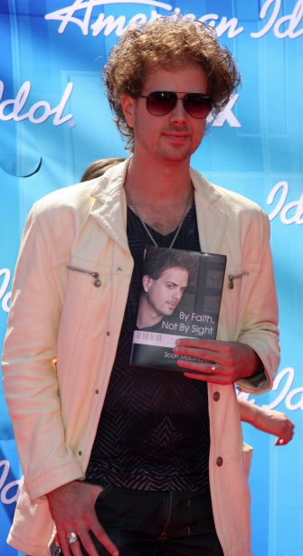 Former A.I. contestant Scott MacIntyre attends the American Idol Finale.