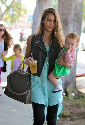 Jessica Alba with daughter Haven.
