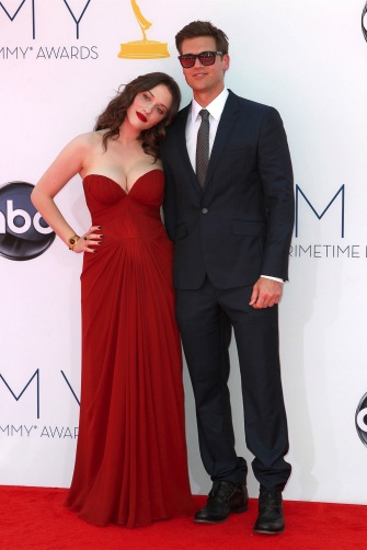 'Two Broke Girls' star Kat Dennings and boyfriend Nick Zano at the 64th Annual Emmy Awards.