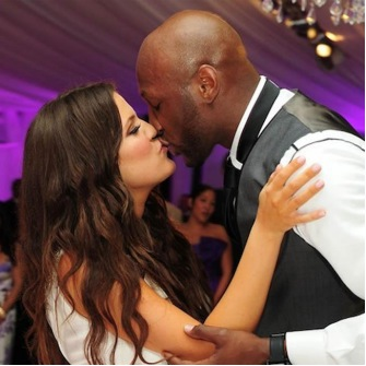 Khloe Kardashian and husband Lamar Odom.