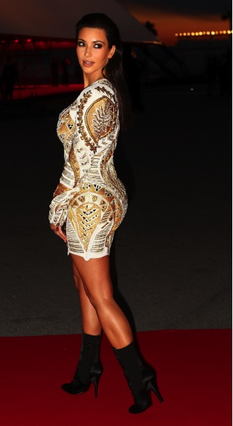 Kim Kardashian attends the Cannes Premiere of 'Cruel Summer'.