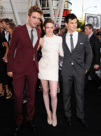 Robert Pattinson, Kristen Stewart, and Taylor Lautner look great together.